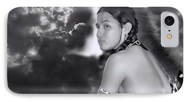 Young Native American Bw  IPhone Case