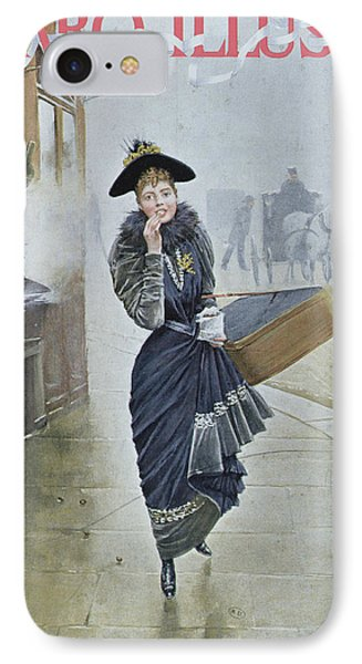 Young Parisian Hatmaker IPhone Case by Jean Beraud