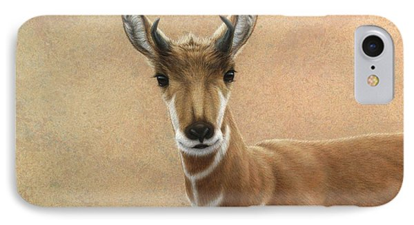 Young Pronghorn IPhone Case by James W Johnson