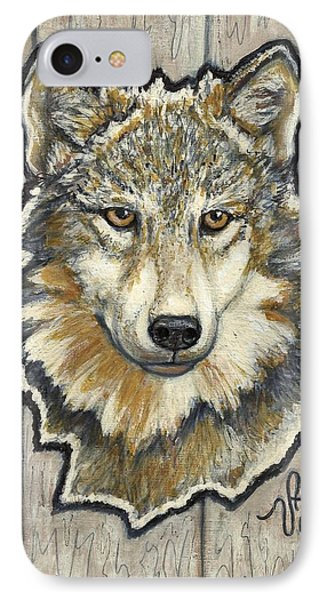 IPhone Case featuring the painting Young Wolf by VLee Watson