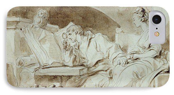 Young Woman Consulting A Necromancer IPhone Case by Jean-Honore Fragonard