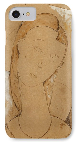 Young Woman  Giovane Donna IPhone Case by Amedeo Modigliani