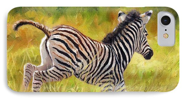 Young Zebra IPhone Case by David Stribbling