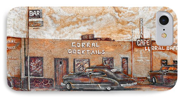 Young's Corral - Holbrook Az - Route 66 - The Mother Road Phone Case by Christine Till