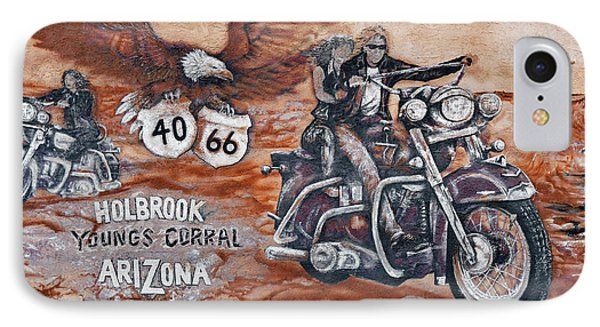 Young's Corral In Holbrook Az On Route 66 - The Mother Road Phone Case by Christine Till