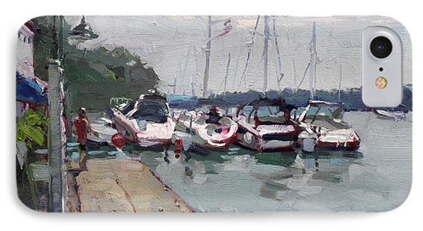 Youngstown Yachts IPhone Case by Ylli Haruni