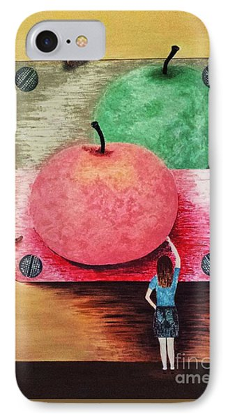IPhone Case featuring the painting Youth And Maturity by Jasna Gopic