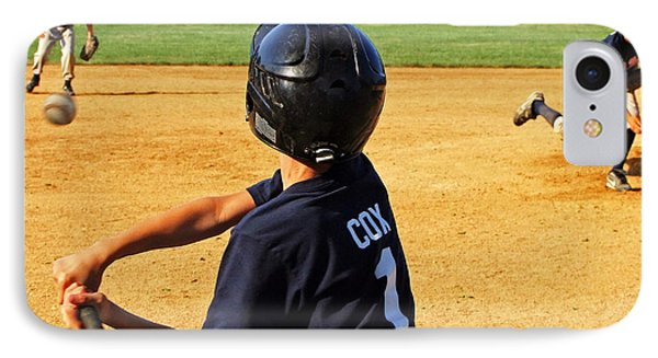 Youth Baseball IPhone Case by David Gilbert