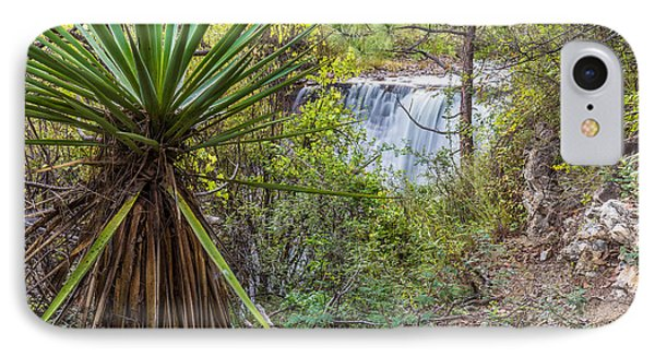 IPhone Case featuring the photograph Yucca And Waterfall by Beverly Parks