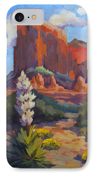 Yucca At Sedona IPhone Case by Diane McClary