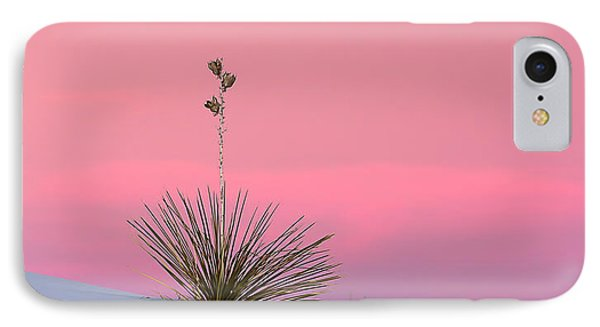 Yucca On Pink And White IPhone Case by Kristal Kraft