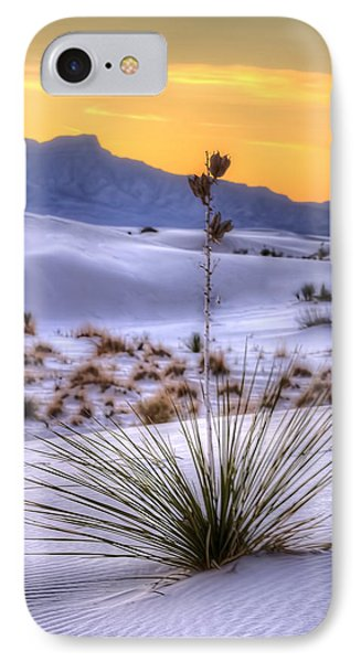 IPhone Case featuring the photograph Yucca On White Sand by Kristal Kraft