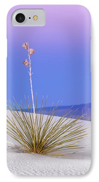 IPhone Case featuring the photograph Yucca Pink And Blue by Kristal Kraft