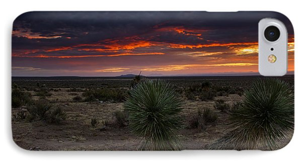 Yucca Sunset IPhone Case by Mike  Dawson