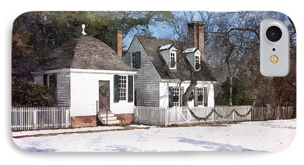 Yule Cottage IPhone Case by Shari Nees