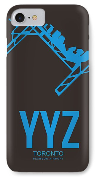 Yyz Toronto Airport Poster 2 IPhone Case by Naxart Studio