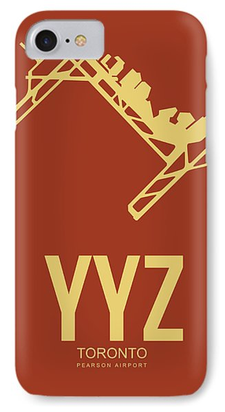 Yyz Toronto Airport Poster 3 IPhone Case by Naxart Studio