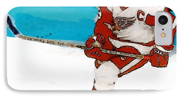Yzerman Stick IPhone Case by John Farr
