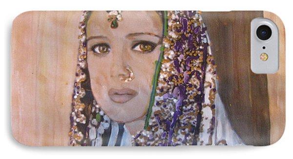 IPhone Case featuring the painting Zaara From Veer Zaara by Vikram Singh