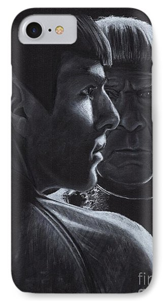Zachary Quinto And Leonard Nimoy Phone Case by Rosalinda Markle