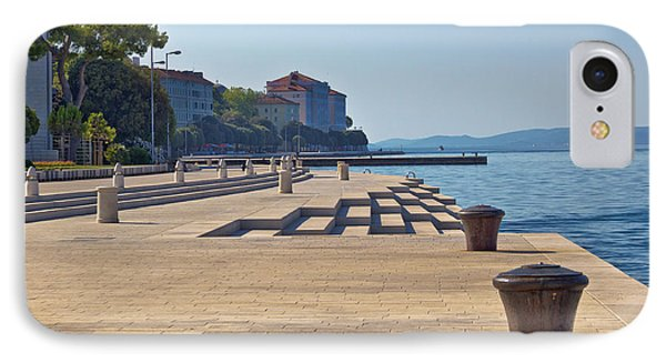 Zadar Waterfront Famous Sea Organs Landmark IPhone Case by Brch Photography