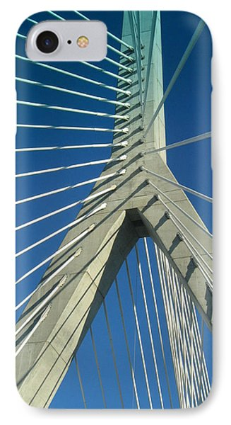 IPhone Case featuring the photograph Zakim Bridge Boston by Mary Bedy