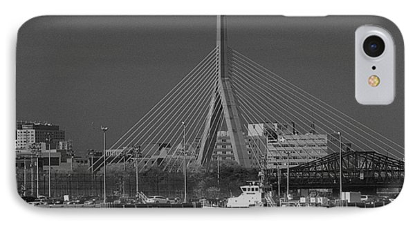 IPhone Case featuring the photograph Zakim Bridge In Bw by Caroline Stella