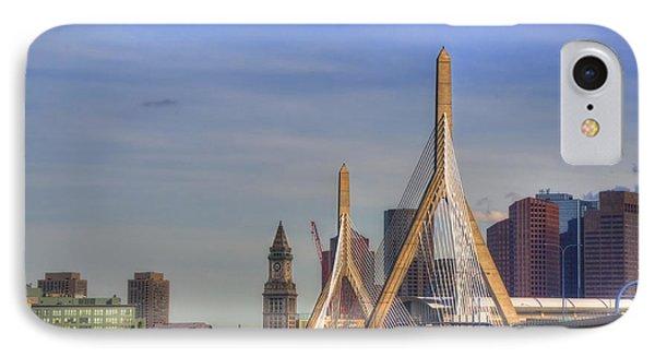 Zakim Bridge On A Clear Day IPhone Case by Joann Vitali