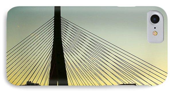Zakim Bridge Silhouette IPhone Case by Nikolyn McDonald