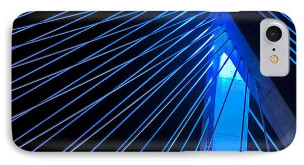 Zakim In Blue - Boston Phone Case by Joann Vitali