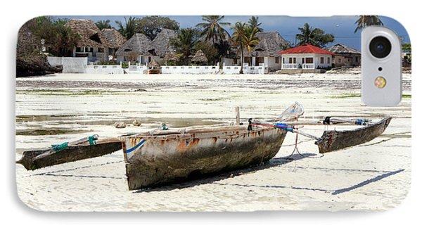 Zanzibar Fishing Boat IPhone Case by Aidan Moran