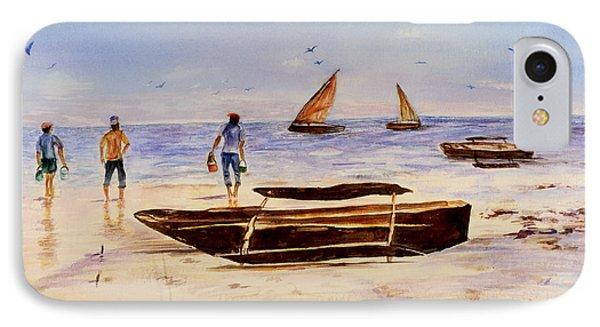 IPhone Case featuring the painting Zanzibar Forzani Beach by Sher Nasser