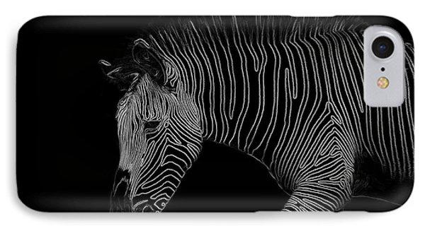 Zebra Art IPhone Case by Bianca Nadeau