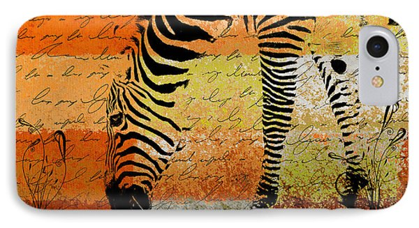 Zebra Art - Rng02t01 IPhone Case by Variance Collections