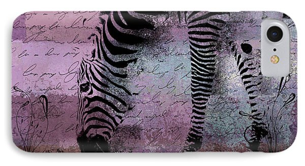 Zebra Art - Sc01 IPhone Case by Variance Collections