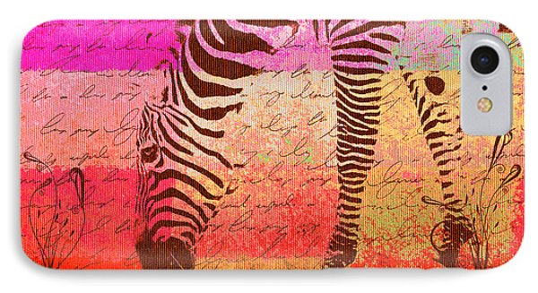 Zebra Art - T1cv2blinb IPhone Case by Variance Collections
