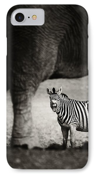 Zebra Barking IPhone Case