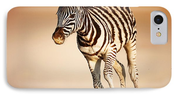 Zebra Calf Running IPhone Case by Johan Swanepoel