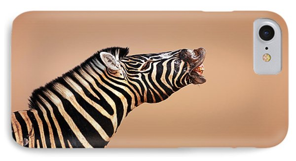 Zebra Calling IPhone Case by Johan Swanepoel