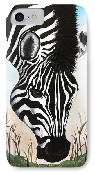 Zebra IPhone Case by Dani Abbott