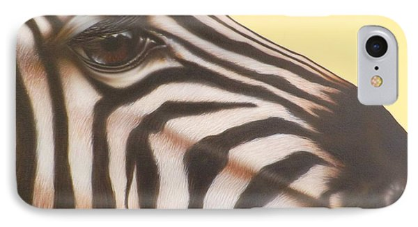 IPhone Case featuring the painting Zebra by Darren Robinson