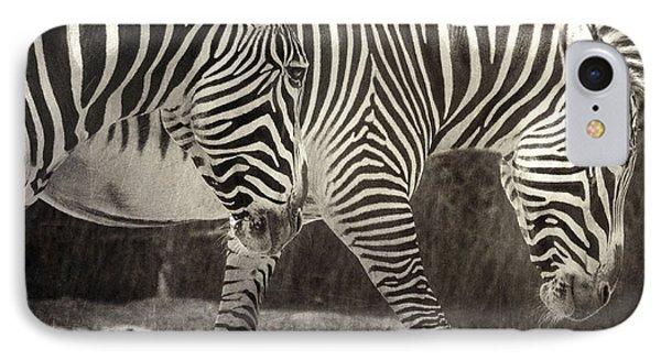 Zebra IPhone Case by Diane Dugas