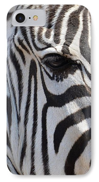 Zebra Eye Abstract IPhone Case by Maria Urso