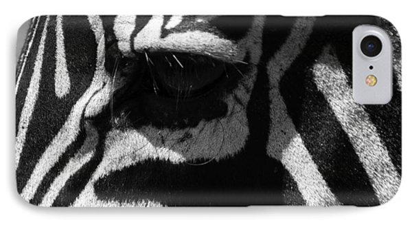 Zebra Eye Phone Case by Aidan Moran
