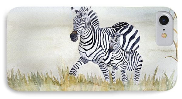 Zebra Family IPhone Case by Laurel Best