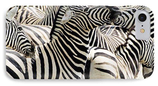 IPhone Case featuring the photograph Zebra Gathering by Dennis Cox WorldViews