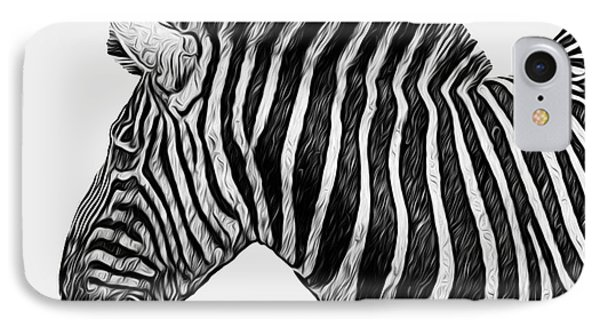 Zebra - Happened At The Zoo Phone Case by Jack Zulli
