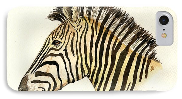 Zebra Head Study IPhone Case