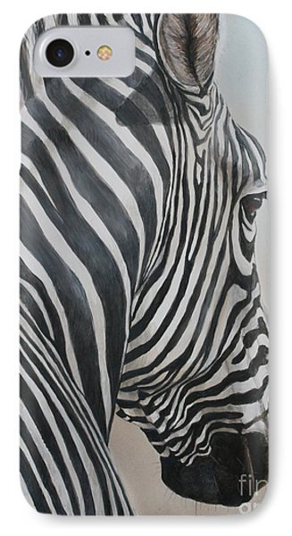 Zebra Look Phone Case by Charlotte Yealey