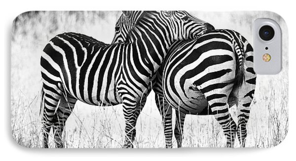 Zebra Love IPhone Case by Adam Romanowicz